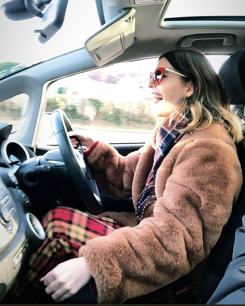 image of sophie driving